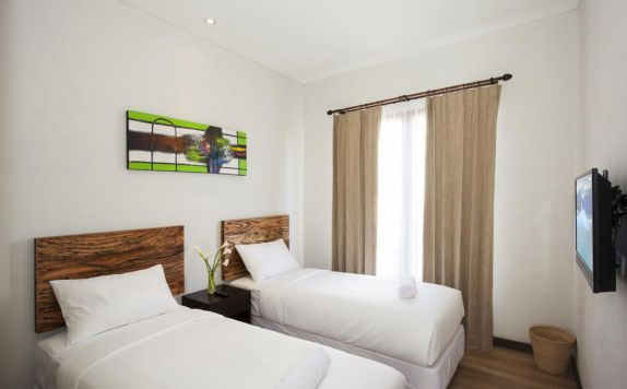 guest room twin bed di Casa di Ungasan Suite and Residence