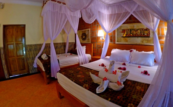 Kamar Tidur di Man's Cottages and Spa