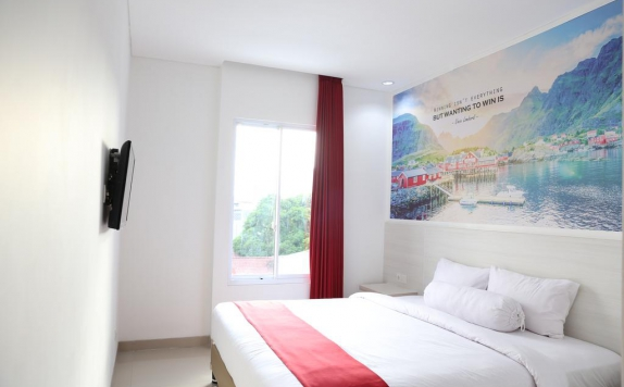 Tampilan Bedroom Hotel di The Win Hotel Surabaya