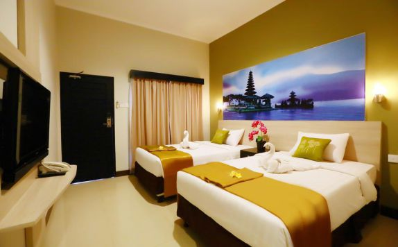 guest room twin di Asoka City Hotel
