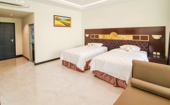 guest room twin bed di Batam Harbour Boutique Hotel & Spa