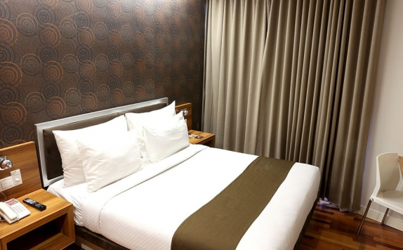 Tampilan Bedroom Hotel di CitiHub Hotel @Sudirman