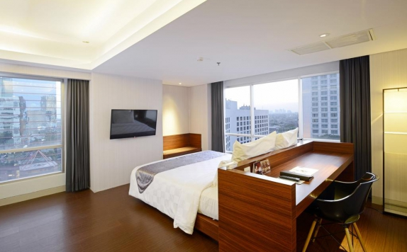 Tampilan Bedroom Hotel di Crown Prince Surabaya