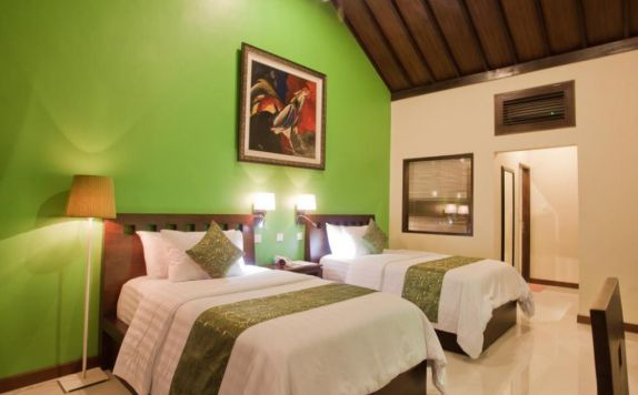 Guest room Twin Bed di Lumbung Sari Cottages & Spa