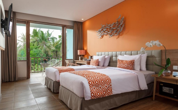 guest room twin bed di Mahagiri Resort Nusa Lembongan