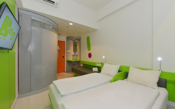 guest room di POP Hotel Banjarmasin