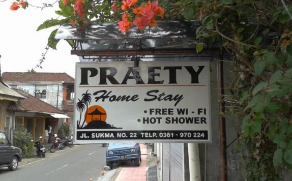 Sign di Praety Home Stay