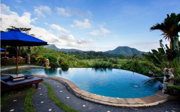 Swimming Pool di Surya Santi Villas