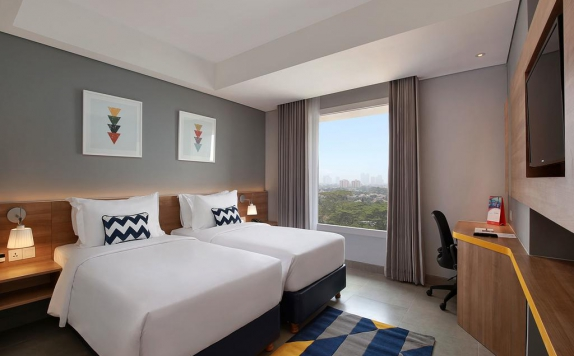 guest room twin bed di Swiss-Belinn Simatupang
