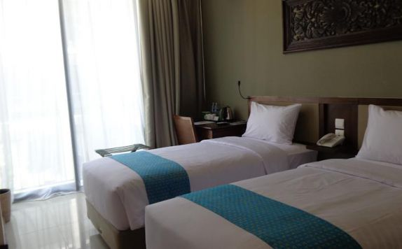 guest room twin bed di Terrace at Kuta