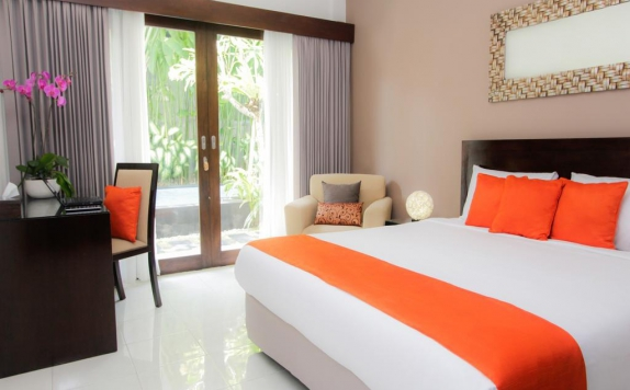 Tampilan Bedroom Hotel di The Pavilion Hotel Kuta
