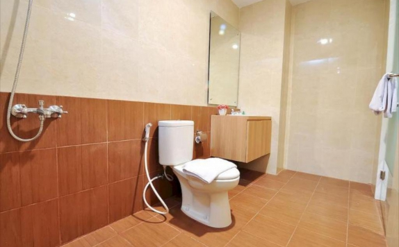 bathroom di Tickle Hotel