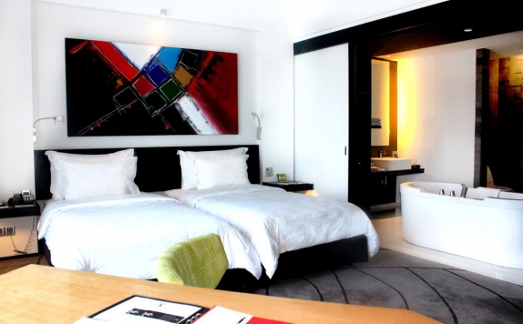 Twin bed di TS Suites Sutos