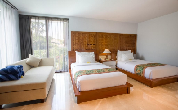 Tampilan Bedroom Hotel di Ubud Wana Resort