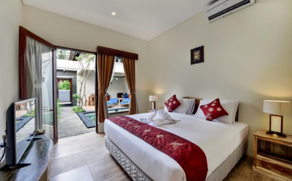Tampilan Bedroom Hotel di Yoga Ubud Villas